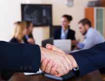 Business people handshaking Stock Photography