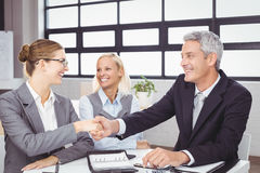Business people handshaking during meeting Royalty Free Stock Photo