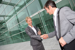 Business people handshaking Royalty Free Stock Image