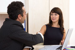 Business people happy at office Stock Photography