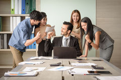 Business people happy after signing agreement Stock Photography
