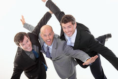 Business people have fun stock images