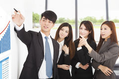 Business people have a marketing meeting at office. Background Stock Photography