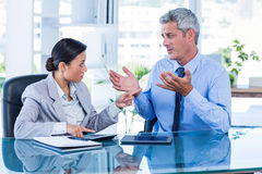 Business people having argument Stock Images