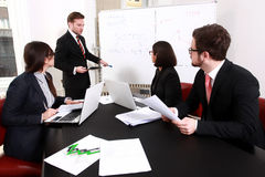 Business people having board meeting. In the conference room Royalty Free Stock Photography