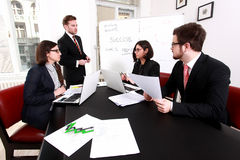 Business people having board meeting royalty free stock photo