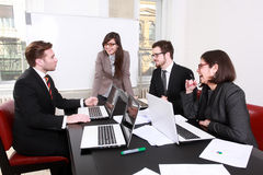 Business people having board meeting. In the conference room Royalty Free Stock Photo