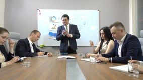 Board meeting in modern office stock footage