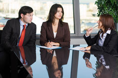 Business people having a brainstorm meeting royalty free stock photography
