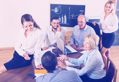 Business people having break Royalty Free Stock Photos