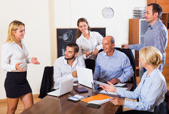Business people having break royalty free stock photography