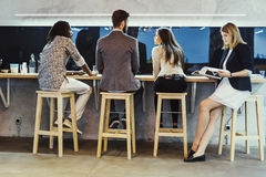 Business people having a break from work Royalty Free Stock Photo
