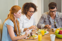 Business people having breakfast Royalty Free Stock Photography