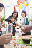Business People Having Champagne at Office Party Royalty Free Stock Image