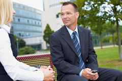 Business people having a chat Royalty Free Stock Photo