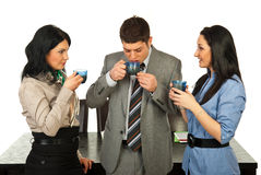 Business people having coffee break Stock Image
