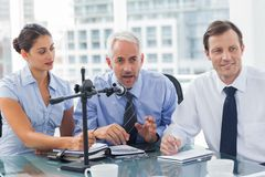 Business people having a conference together Stock Photos