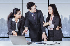 Business people having conflict problem Stock Images