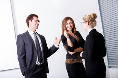 Business People having conversation Stock Image