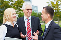 Business people having discussion Royalty Free Stock Photos