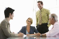 Business People Having Discussion At Conference Table Royalty Free Stock Photography