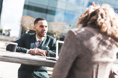 Business People Having A Discussion Or Job Interview Stock Photos