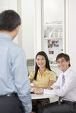 Business People Having Discussion In Meeting Room Royalty Free Stock Images