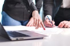 Business people having discussion. royalty free stock photos