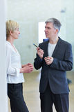 Business people having discussion Stock Photography