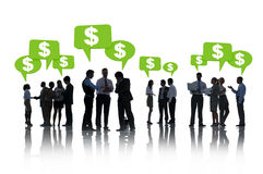 Business People Having Finanial Discussion Royalty Free Stock Photography