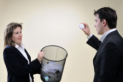 Business people having fun in office Royalty Free Stock Photography