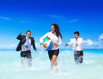 Business people having fun Vacation Concept Stock Images