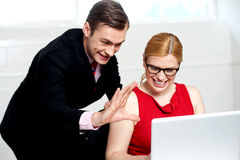 Business people having fun at work Royalty Free Stock Photography