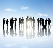 Business People Having Group Discussion Royalty Free Stock Photos