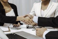 Business people having handshake Stock Images