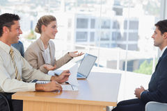 Business people having an interview Royalty Free Stock Photography