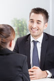 Business people having job interview Royalty Free Stock Images