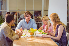 Business people having lunch Royalty Free Stock Photos