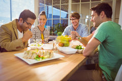 Business people having lunch Stock Images