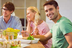 Business people having lunch Stock Image