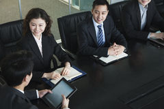 Business people having meeting Royalty Free Stock Photos