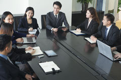 Business people having meeting Royalty Free Stock Images