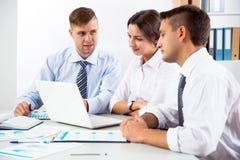Business people having meeting. In modern office Stock Image