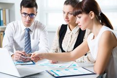 Business people having meeting. In modern office Stock Images