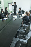 Business people having meeting, high angle view Stock Photography