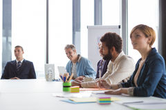 Business people having meeting in modern office Stock Photo