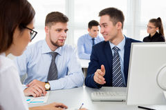 Business people having a meeting Royalty Free Stock Image