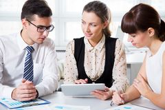 Business people having meeting. In modern office Royalty Free Stock Images