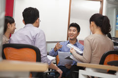 Business people having meeting in the office Royalty Free Stock Photos