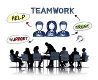 Business People Having a Meeting About Teamwork Royalty Free Stock Photo